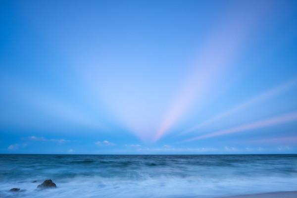 Pink Rays by Kent Burkhardsmeier