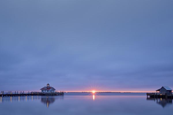 Monteo Lighthouse Sunrise by Kent Burkhardsmeier