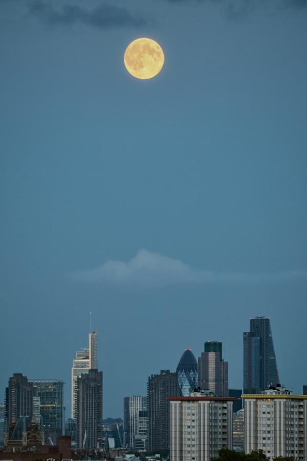Moon Rise Over London #1 of 25 by Kent Burkhardsmeier
