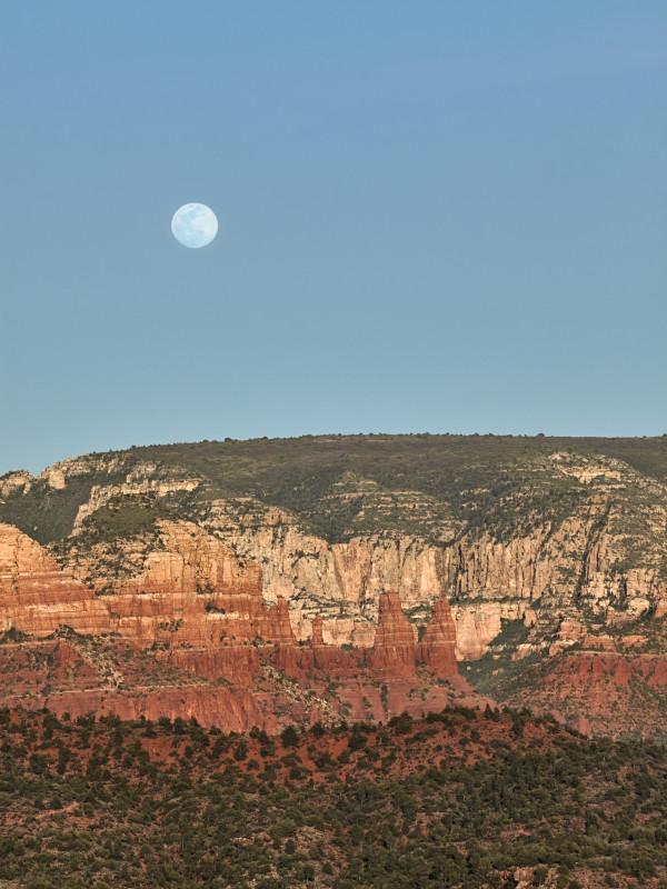 Sedona Moon Rise #1 of 10 by Kent Burkhardsmeier