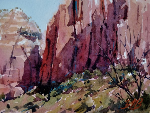 Canyon Shadows Study by Brienne M Brown