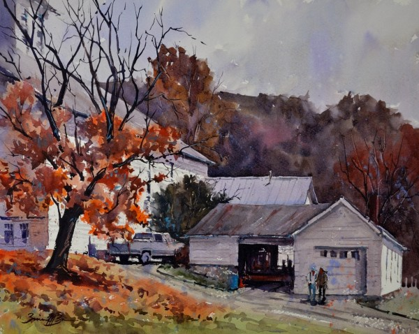 Late Fall at Barree Forge by Brienne M Brown