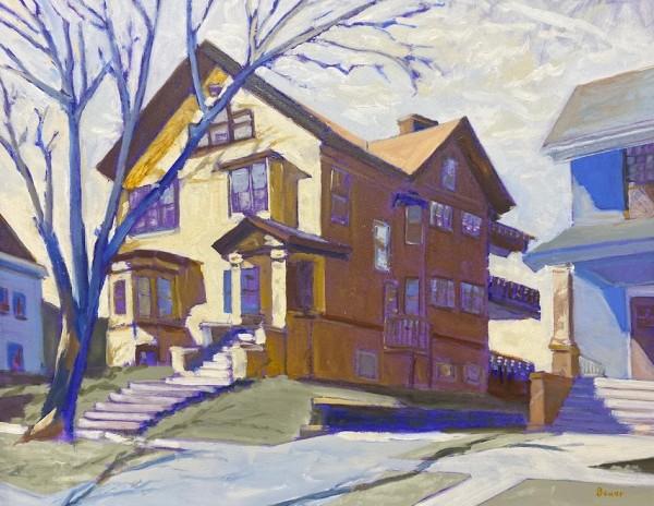 1726 Hoyt St, Madison, Wisconsin (Framed original) by Chuck Bauer