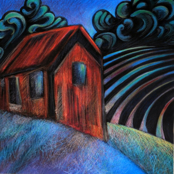 Old Shed on a Summer Night by Nancy Giffey