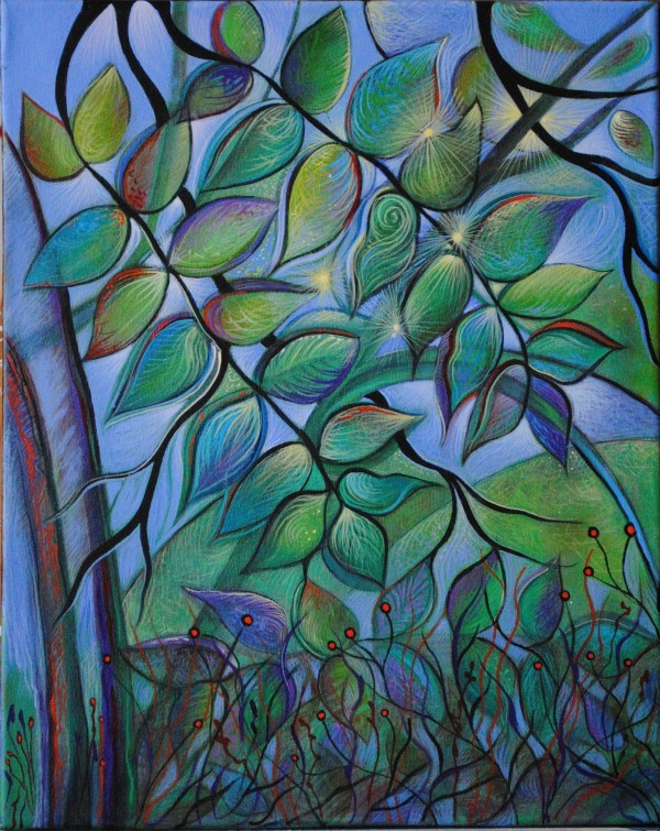 Leaves After Rain (Unframed print) by Nancy Giffey