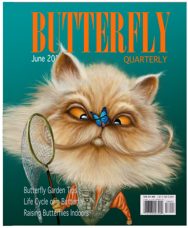 "If Only a Real ""Butterfly Quarterly"" (Framed) by Rick  Nass"