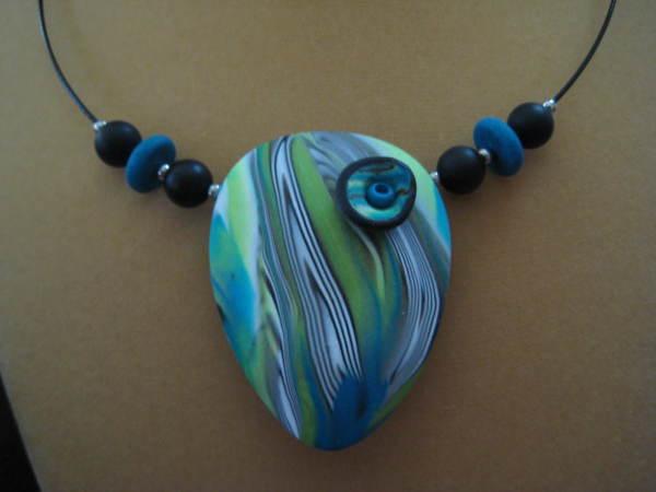Ocean Teardrop Necklace by Charmaine Harbort