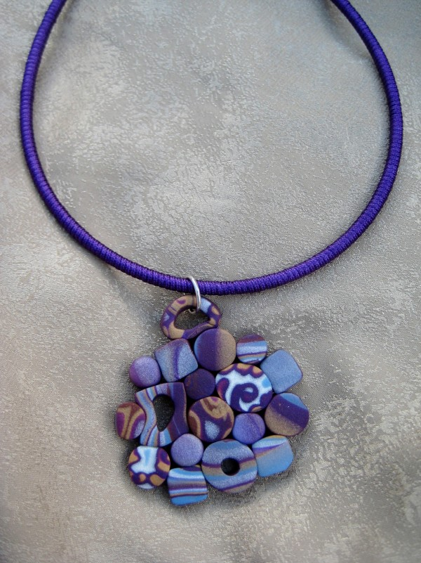Purple Cluster Necklace by Charmaine Harbort