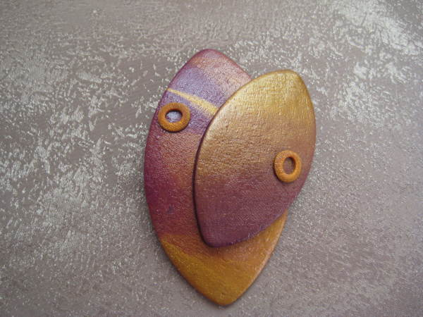 Gold/Purple Pin by Charmaine Harbort
