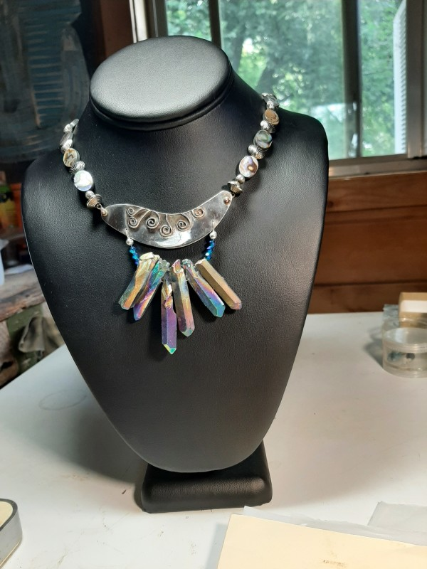 Crystal Points Necklace by Georgia Weithe