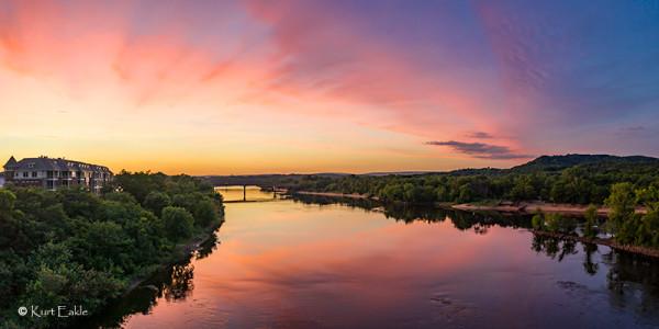 River Sunset by Kurt Eakle