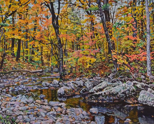 Color Over Quartzite (Framed print) by Ken Schneider