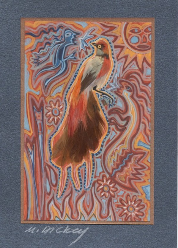 Feather Bird 31 by Mary Dickey