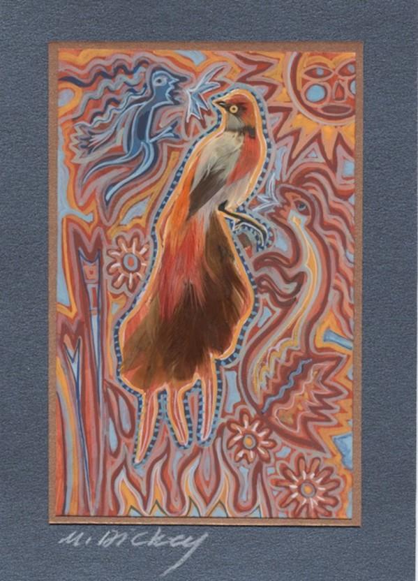 Feather Bird 31 by Mary Dickey