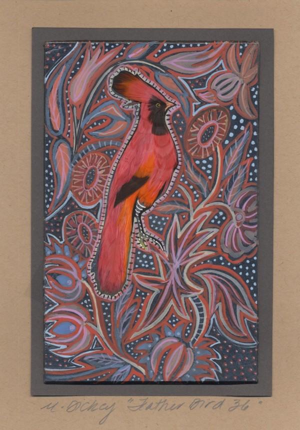 Feather Bird 36 by Mary Dickey