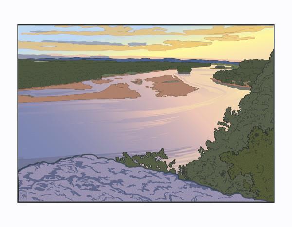 Ferry Bluff Down River (Unframed print) (2) by John Miller