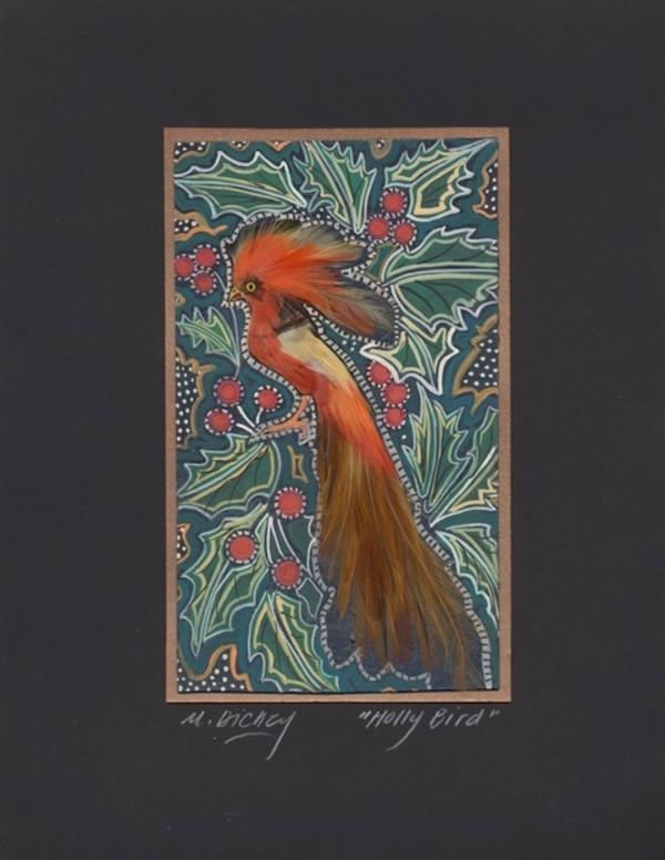 Holly Feather Bird by Mary Dickey