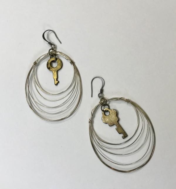 Key Earrings by Luann Roberts Smith