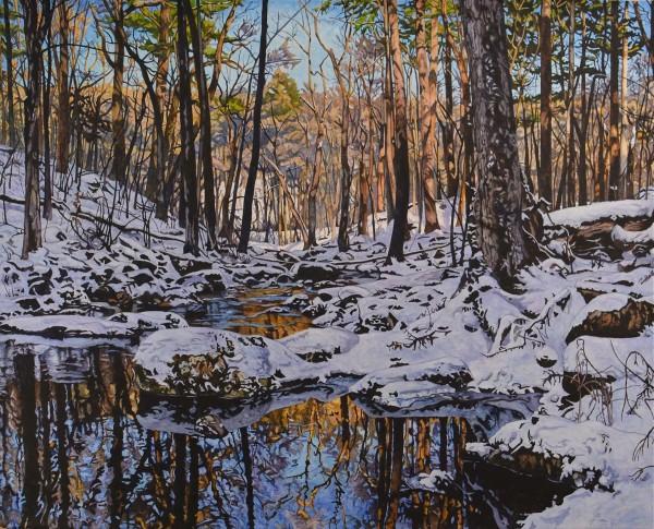 A Warmer Hillside (Framed print) by Ken Schneider