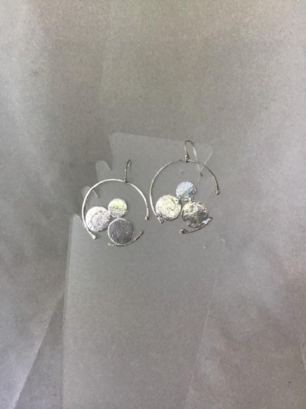 Three Half-in-Half Circle Earrings by Judi Werner
