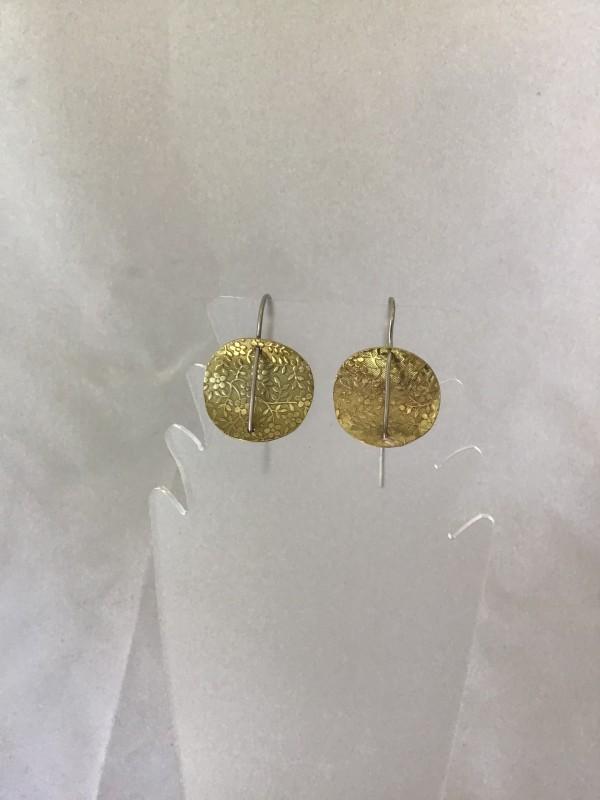 Circle Earrings 1 by Judi Werner