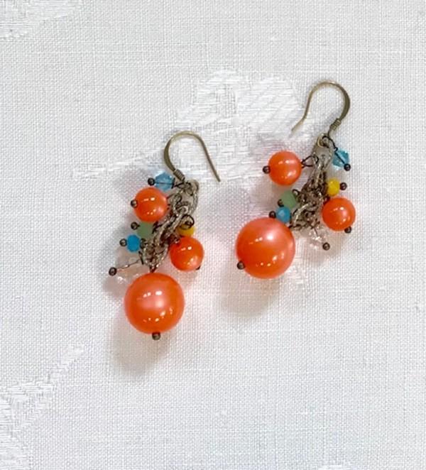Orange Earrings by Luann Roberts Smith