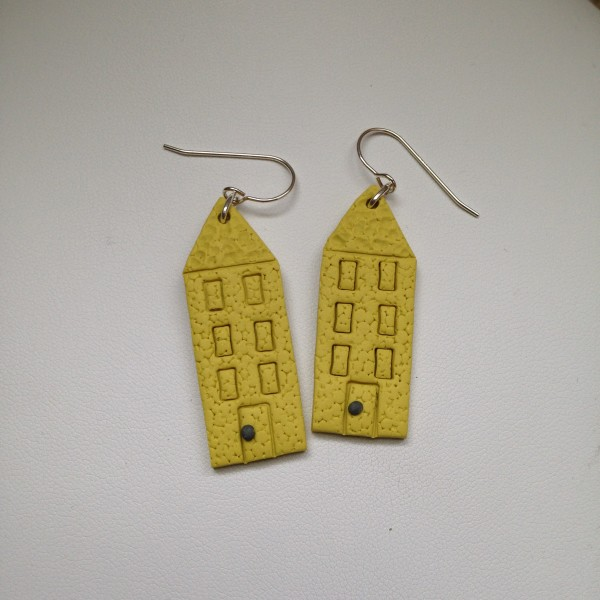House Earrings (Yellow) by Charmaine Harbort