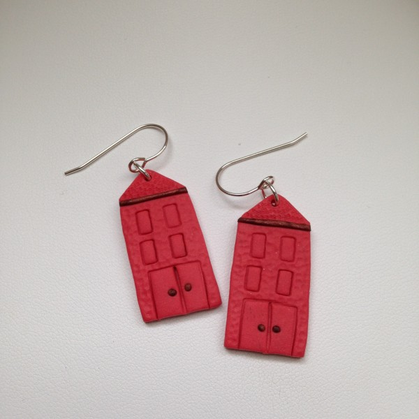 House Earrings (Coral) by Charmaine Harbort