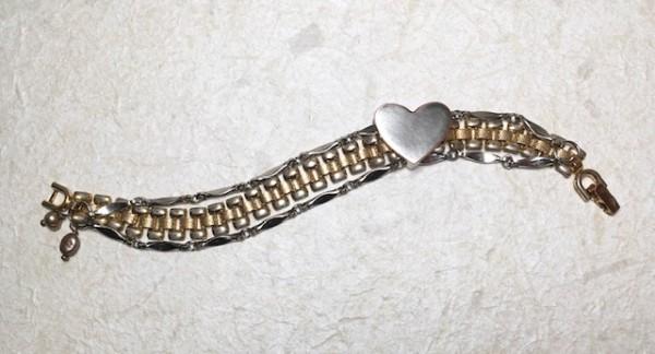 Sliding Heart Bracelet by Luann Roberts Smith