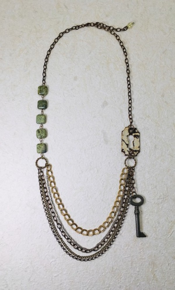 Key & Chain Necklace by Luann Roberts Smith