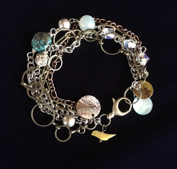 Yellow Bird Bracelet by Luann Roberts Smith