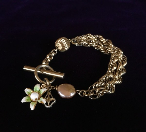 Vintage Chunky Bracelet by Luann Roberts Smith