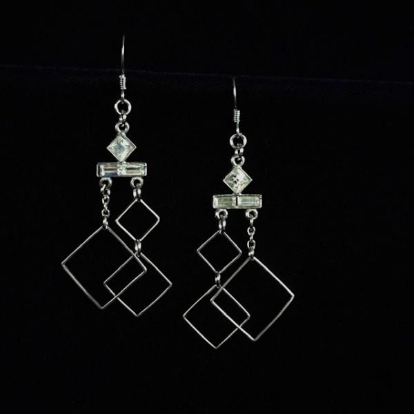 Diamond Chandelier Earrings by Luann Roberts Smith