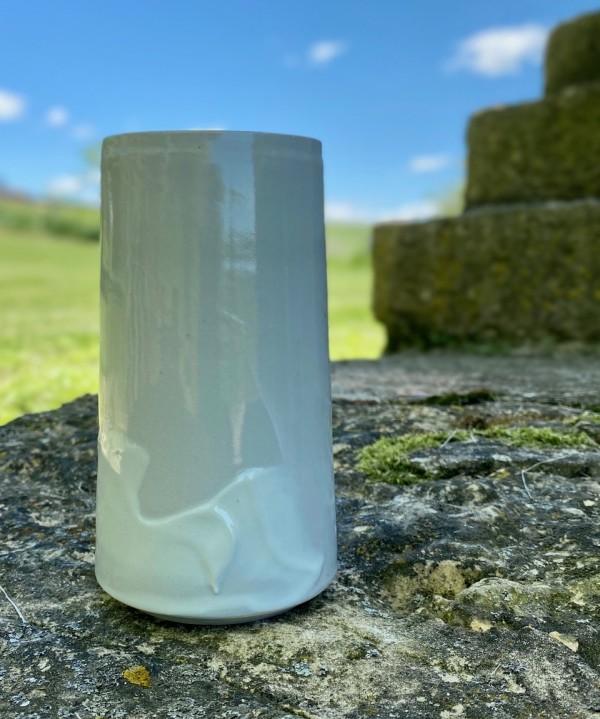 Vase (Gray/white) by Carol Naughton