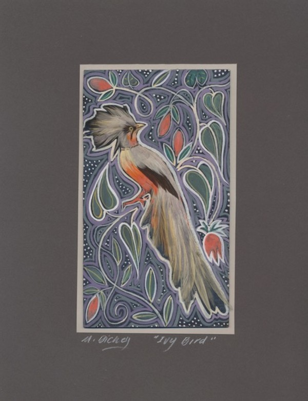 Ivy Feather Bird by Mary Dickey