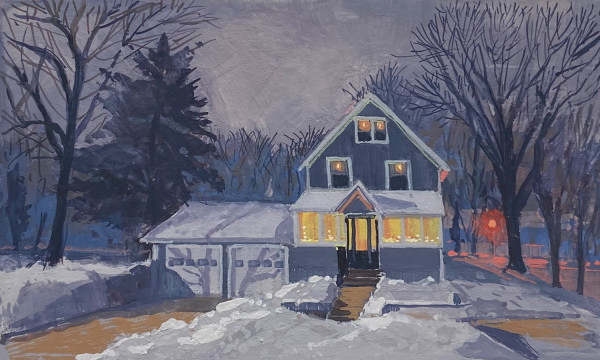 Happy Holidays from Our House to Yours (Framed original) by Jan Norsetter