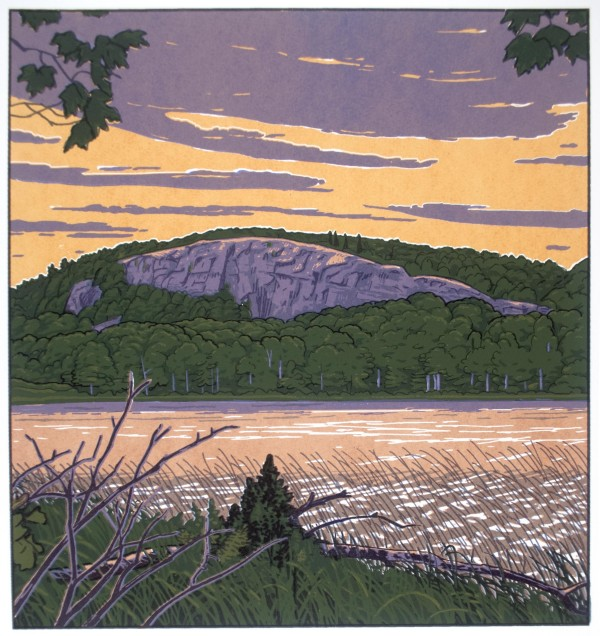 Lake of the Clouds (Framed screen print) by John Miller
