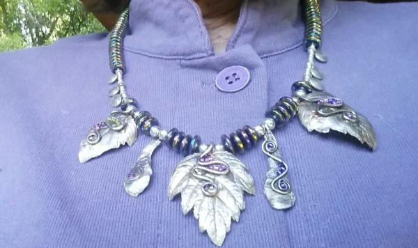 Leaves, Spirals, & Seeds (Necklace) by Georgia Weithe