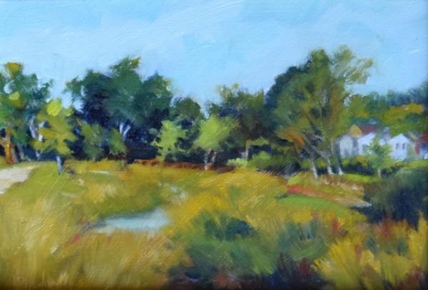 Mill Creek Parkway (Framed original) by Jane Varda