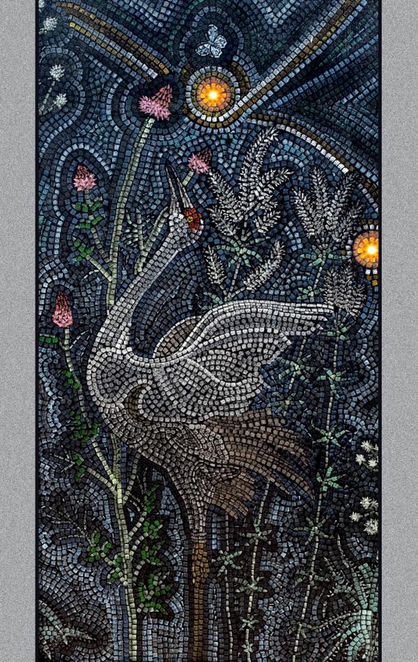 Starry Prairie Mural Print (Small Crane)