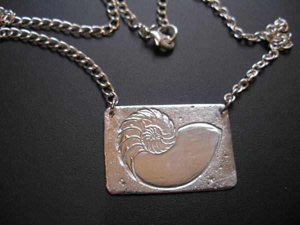 Silver Shell Necklace by Judi Werner