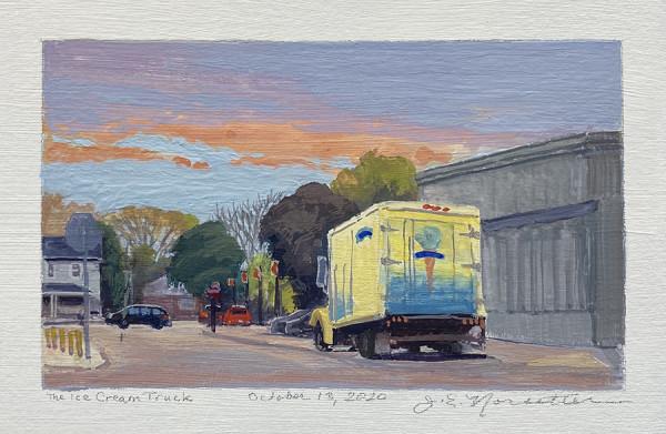 The Ice Cream Truck (Framed original) by Jan Norsetter