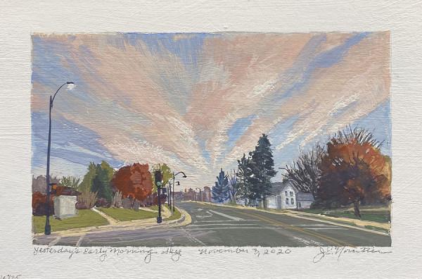 Yesterday's Early Morning Sky (Framed original) by Jan Norsetter