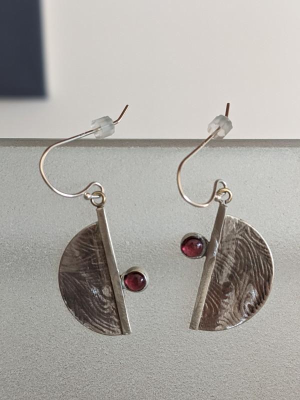 Garnet Earrings by Susan Baez