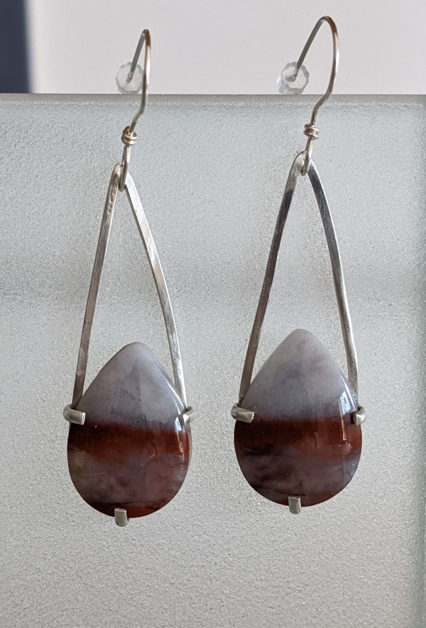 Sunset Agate Earrings by Susan Baez