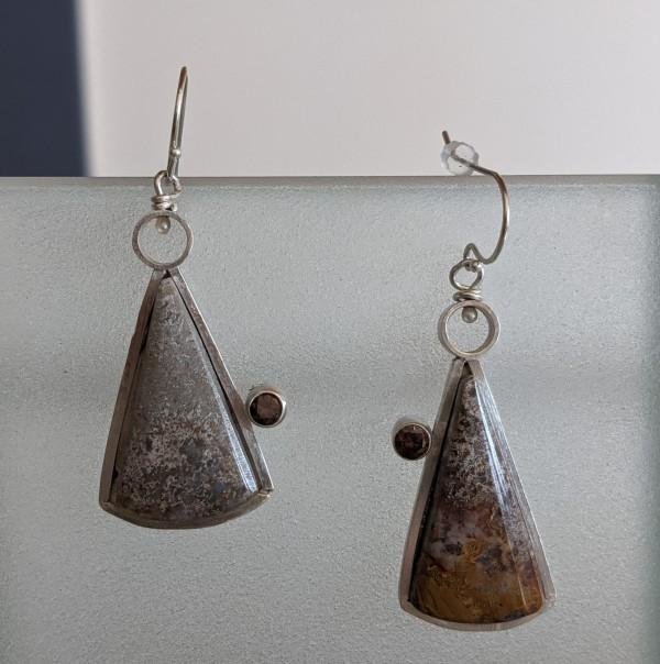 Sagenite Earrings by Susan Baez