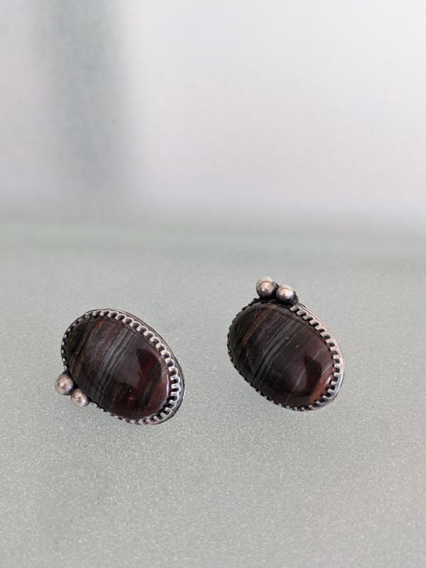Iron Stone Earrings by Susan Baez
