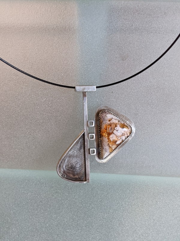 Fire Agate Necklace by Susan Baez