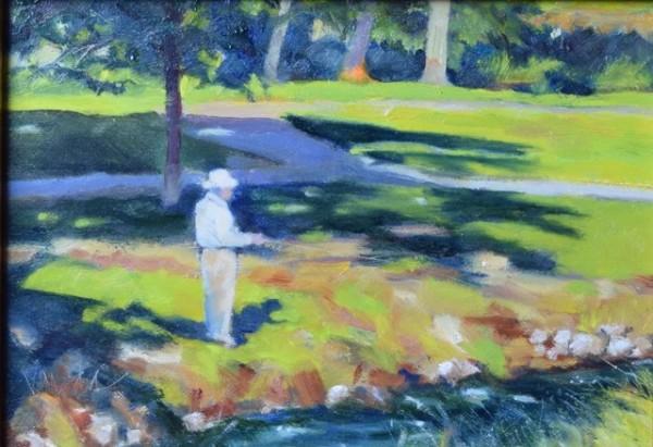 Peace by the Creek (Framed original) by Jane Varda