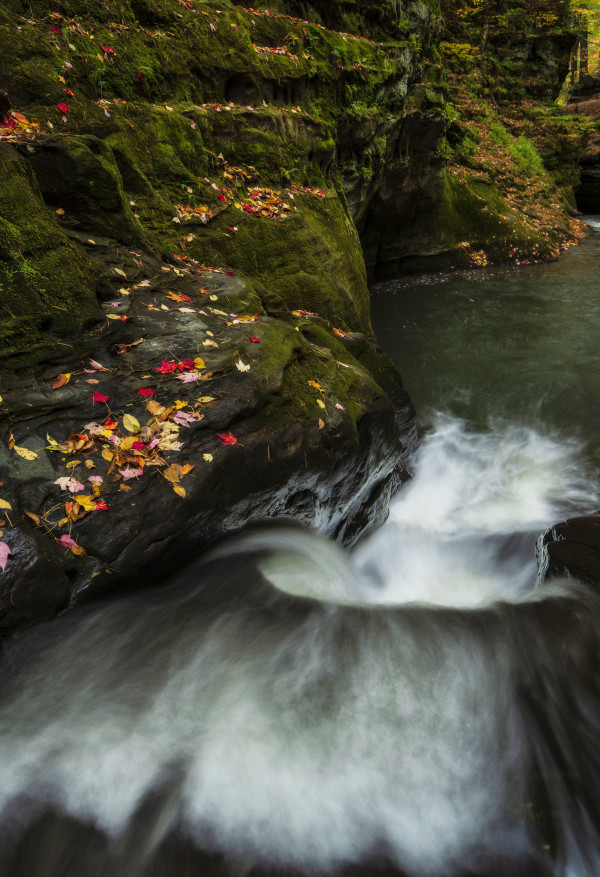 Pewit's Nest Waterfall (unframed print) by Mike Murray